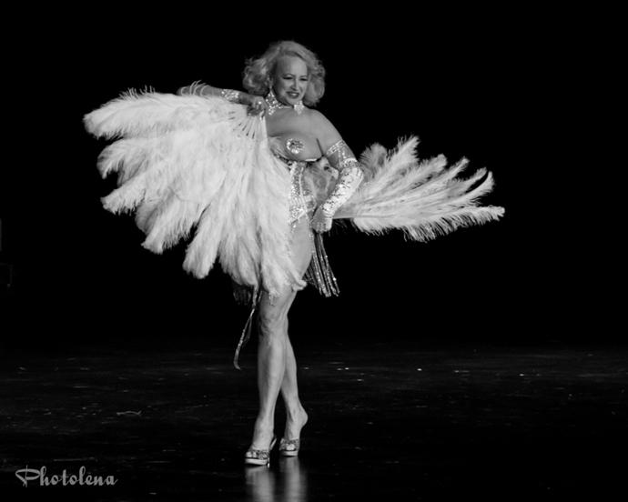 performing burlesque