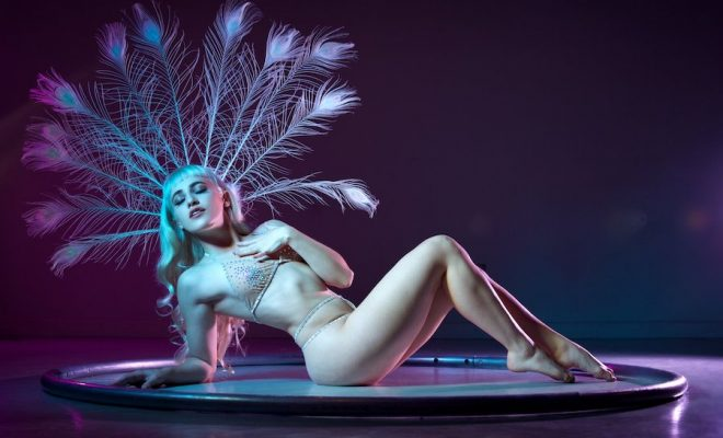 burlesque dancer on stage