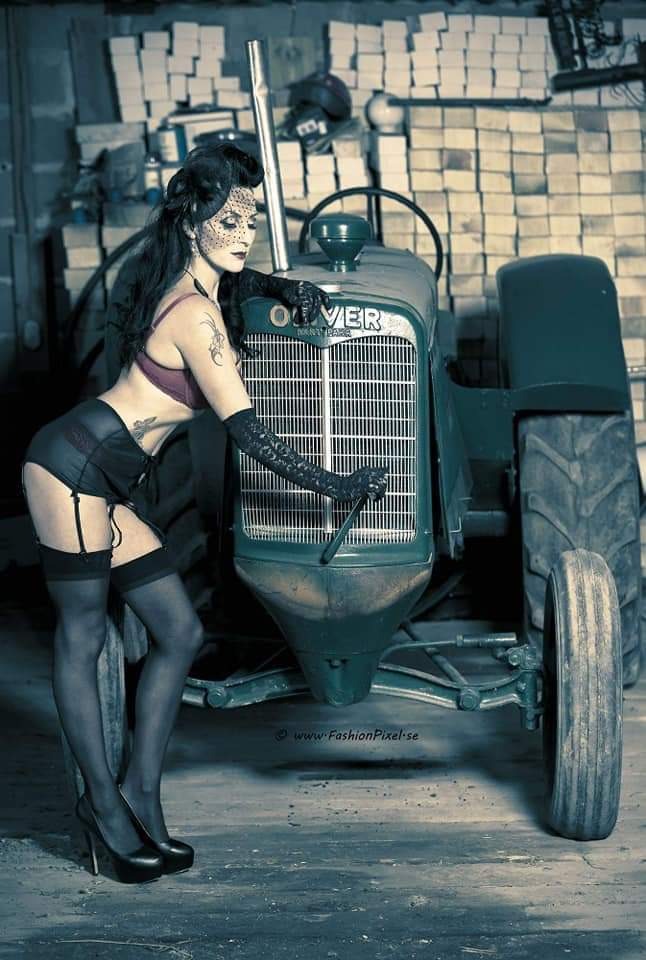 Swedish pinup girl