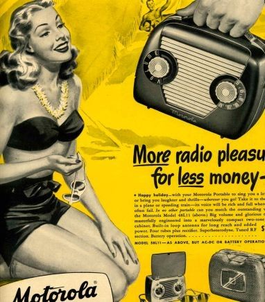 Bakelite radio advert