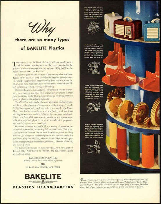 Bakelite advert